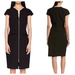 Ted Baker Black Fearnid Pencil Zip Up Dress